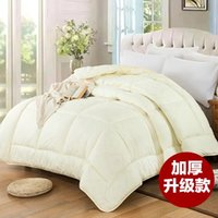 beige tabby - home textile suit wool European rural style beige for the two men thick and warm air conditioning quilt cotton from Xingjiang China