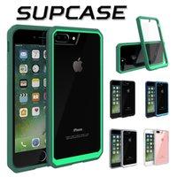 al por mayor cubierta híbrida nota-Supcase TPU híbrido parachoques Transparente duro caso de la cubierta de la PC para el iPhone 7 Plus 6 6S 4.7 5,5 pulgadas Samsung S6 borde más Nota 5