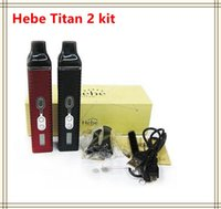 Precio de Vaporizador de pantalla led-Titan 2 kit del vaporizador Vaporizador seco 2200mah de la hierba de Hebe con la pantalla de visualización del LED VS Snoop Dogg G favorable enormes kits del vapor 7pipe cbd