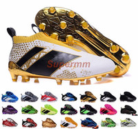 achat en gros de boîtes de football-Ace 16+ Purecontrol Primeknit Soccer Cleats Firme Ground Cleats Formateurs NSG FG CG ACE 16 Chaussures de football pour hommes Chaussures de football avec boîte