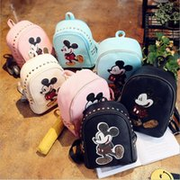 Wholesale japanese backpacks with ears women s bag Korean Mouse Mickey shoulder bag women s small backpack school bag leather backpack