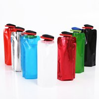 Wholesale 700ml Duckbill Collapsible Water Bag Flexible PVC Water Bottle Reusable Water Bottles for Hiking Adventures Traveling Multicolor
