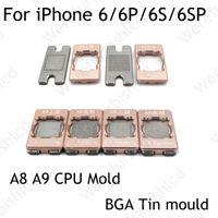 Wholesale Lower Upper BGA Reballing Stencil dedicate for iphone P S SP plus A8 A9 CPU flash BGA Reball Tool Stencils Planted tin mold