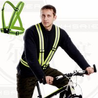 wholesale cycling clothing - Safety Clothing Chaleco Reflectante Degrees High Visibility Neon Reflective Vest Belt Running Cycling Sports Outdoor Clothes
