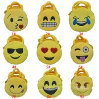 Wholesale 2016 QQ Expression Coin Purses Cute Emoji Coin Bags Plush Pendant Womens Girls Creative Chirstmas Xmas Gifts High Quality XL P155