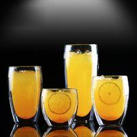 Wholesale Heat resistant Double Wall Glass Cup Beer Coffee Cup Set Handmade Creative Beer Mug Tea Mugs Transparent Drinkware