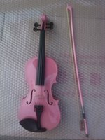 Wholesale High quality PINK color violin violin handcraft violino Musical Instruments