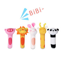 Wholesale High Quality Set Baby Rattle Toys Animal Hand Bells Olaf Plush Toys Baby Newbron Christmas Gift with Package