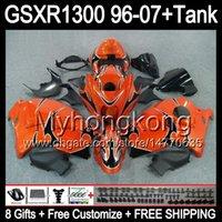 8gift Pour SUZUKI Hayabusa GSXR1300 96 97 98 99 00 01 orange brillant 13MY36 GSXR 1300 GSX-R1300 GSX R1300 02 03 04 05 06 07 TOP noir Carénage