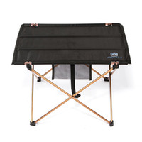 Wholesale Lightweight Aluminium Alloy Portable Folding Table for Camping Outdoor Activties Foldable Picnic Barbecue Desk L56 W42 H37cm