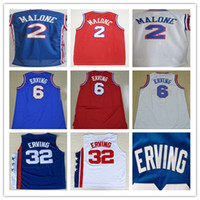 basketball wilt chamberlain - Top Quality Moses Malone Julius Erving Jersey Blue Red White Julius Erving Wilt Chamberlain Stitched Basketball Jerseys