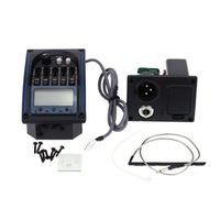 Wholesale High Quality EQLC Band EQ Equalizer System Acoustic Guitar Preamp Piezo Pickup LCD Screen Tuner