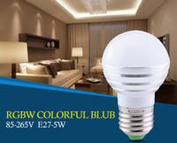 Wholesale 2017 RGB Led Bulb Lamp E27 LED Light Bulbs AC V V W LED rgbw Spotlight Dimmable Magic Holiday Lighting IR Remote Controller