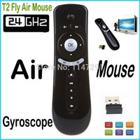 air free computer mouse - G Wireless Gyroscope Fly Air Mouse T2 Mice Android Remote Control D Motion Stick Combo Computer Peripheral