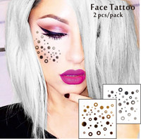 aspen decor - F04 set Face Decor Tattoos Non toxic And Waterproof Round Points Glitter Makeup Jazz Aspen Snowmass