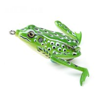 Cheap High Quality Kopper Live Target Frog Lure 58mm 16g Snakehead Lure Topwater Simulation Frog Fishing Lure Soft Bass Bait