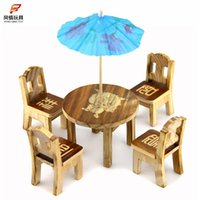 Wholesale Manufacturers selling wooden chairs wooden chair furniture simulation Mini Mini wooden toys children play