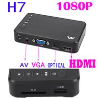 Wholesale H7 F10 chipset Full HD P HDMI D VGA MKV H media player with remote control