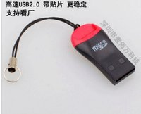 Wholesale high quality hot sell whistle USB T flash memory card reader TFcard micro SD card reader TF card adapter