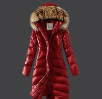 Wholesale 2016 New Fashion Long Winter Jacket Women Slim Female Coat Thicken Parka Down Cotton Clothing Red Clothing Hooded Parkas Brand High Quality
