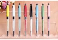 aviation advertising - fashion crystal aviation promotional advertising gift pen LOGO custom diamond metal pen touch pen