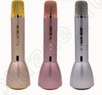 Wholesale K088 Karaoke Player Wireless KTV Bluetooth Microphone Portable Handheld Speaker PC Phone Singing Microphone colors OOA898