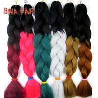 Cheap 24inch ombre hair extension Synthetic two tones Xpression Braiding Hair For Braid 100g jumbo crochet braids