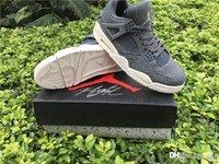 Compra 4s retro jordan-Jordan Sports Air AA Jordania 4 zapatos de baloncesto de lana retro Jordans 4 zapatillas de deporte retro 4s con caja original