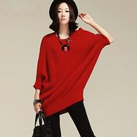batwing jumper dress - Women Sweaters Loose Oversized Batwing Sleeve Knitwear Jumpers Pullover Autumn Winter Mini Sweater Dress Casual Tops DX634