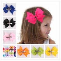 Wholesale The latest children hairpin headdress Dovetail rib ribbon bowknot hairpin