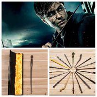 Wholesale harry potter Magical Wand dumbledore Hogwarts wand cosplay wands Hermione Voldemort Magic Wand In Gift Box cm design KKA551