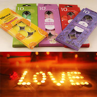 Purple aromatherapy candle set - 10pcs set Essential Oil Bathroom Candles Burning Aromatherapy Jelly Wax Tea Light Candles Birthday Wedding Party Decoration ZA2713