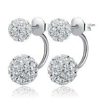 genuine diamond earrings - High quality silver earrings genuine temperament ladies diamond earrings Shambhala micro diamond earrings princess