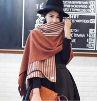 Wholesale Autumn and Winter Scarf Shawl dual purpose air conditioning shawl double color imitation cashmere scarf oversized long paragraph thickening