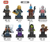 8-11 Years Multicolor Guardians of the Galaxy Guardians of the Galaxy Figures Vol 2 Gamora Rocket Baby Groot Star Lord 76079 76080 76081 X0159 Mini Building Block Figures