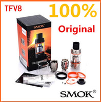 best head - 100 Authentic SMOK TFV8 Original Cloud Beast Tank ml with V8 T8 Octuple Coil V8 Q4 Quadruple Coils Head smoktech TFV8 Tank Best