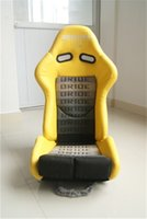 Wholesale One Adjustable Series Racing Seats SPS High Style Carbon Fiber Frame Yellow Alcantara Suede Cloth
