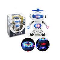 Wholesale 360 Rotation Electric Dancing Robot Model With Light And Music Kids Children Toy Gift