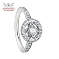 allure set - Memnon Jewelry Vintage Allure CZ Diamond Engagement Rings Sterling Silver Pave Micro Cubic Zirconia Finger Rings For Women RIP090