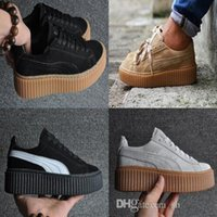 Wholesale 2016 Rihanna Suede Gold tiple White Women Men Running Shoes Fashion Rihanna shoes sneakers