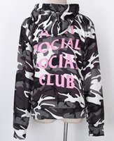 Wholesale new Fashion man Social Club Hoodie Anti Social Social Club Hooded Camouflage Sweatshirts