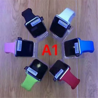All Compatible Portuguese Sedentary Remind A1 Smart Watches Bluetooth Touch Screen Smartwatch Support SIM TF Card Smart Watch A1 for Smartphone With 8 Colors and Retail Package