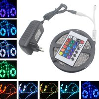 Wholesale Waterproof m White Red RGB LED strip SMD Led Strip Light Keys IR Remote Controller V A Power Supply