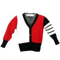 Wholesale Autumn and winter new children sweater fashion boy knit cardigan V neck sweater large children s cotton jacket cash sweater