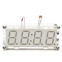 Wholesale PC DIY Kit LED Electronic Clock Microcontroller LED Digital Clock Time Digital Thermometer Inch