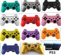 Wholesale Game Controller PS3 Wireless Bluetooth for PlayStation DualShock Game Controller Gamepad Joystick For Android Video Games box free DHL