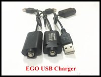 Wholesale 100 High Quality USB Chargers for EGO ECIG vaporizer battery Cable E cig USB charger for ego ego T ecigarette
