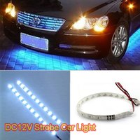 bicycle green cars - Car DIY DC12V LED Flashing Light Motocycle Bicycle Decoration Night Warning LED Strip Lights Waterproof SMD3528 RGB Strobe Light