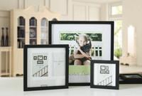 achat en gros de carrés cadres-Cadre en bois massif accrocher des affiches murales en gros 10 pouces studio carré photographies décoration puzzle que les cadres