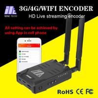 4G Wifi encodeur vidéo mobile sans fil avec entrée HDMI ou SDI H.264 / H.265 encodage 1080P live streaming téléphone cellulaire App de contrôle